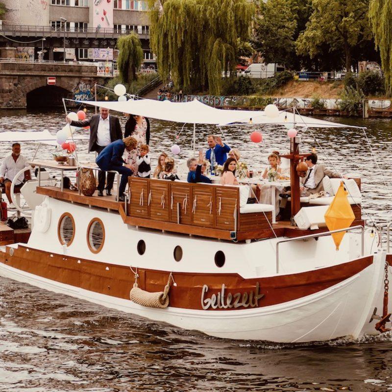 Ihr Hochzeit oder Event auf unserem Boot.