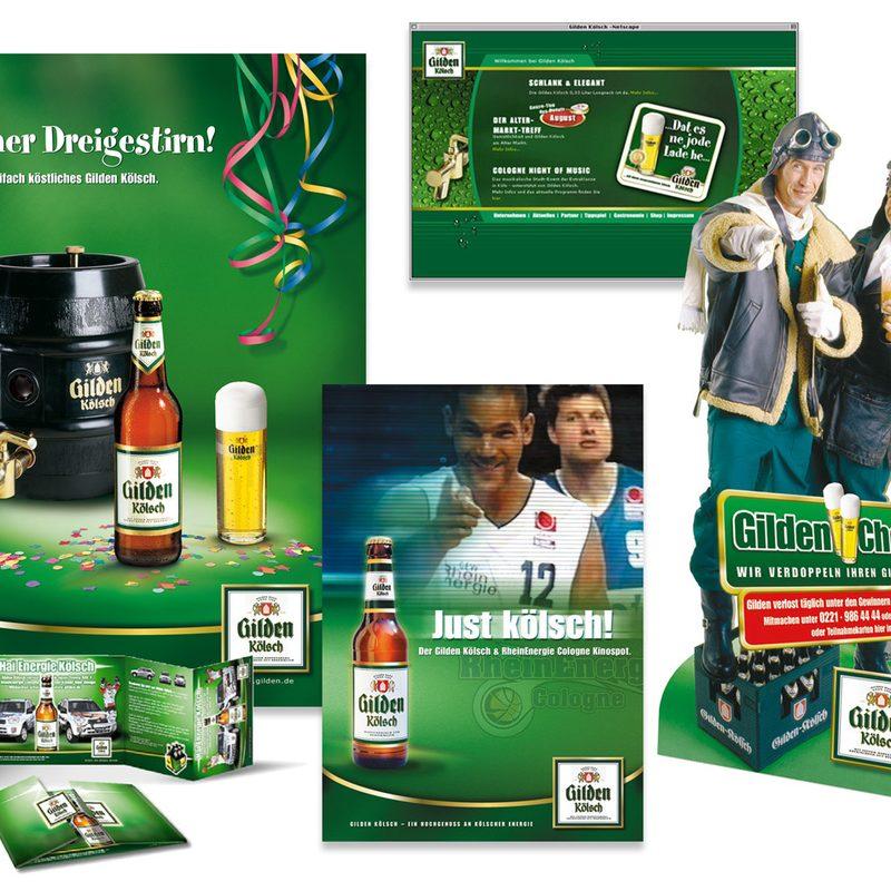 Kölner Brauereiverband, Gilden Kölsch | Konzeption und lfd. Beratung. Kampagnen, Promotions, Internet, Radiospots, Kinospots, Sponsoring