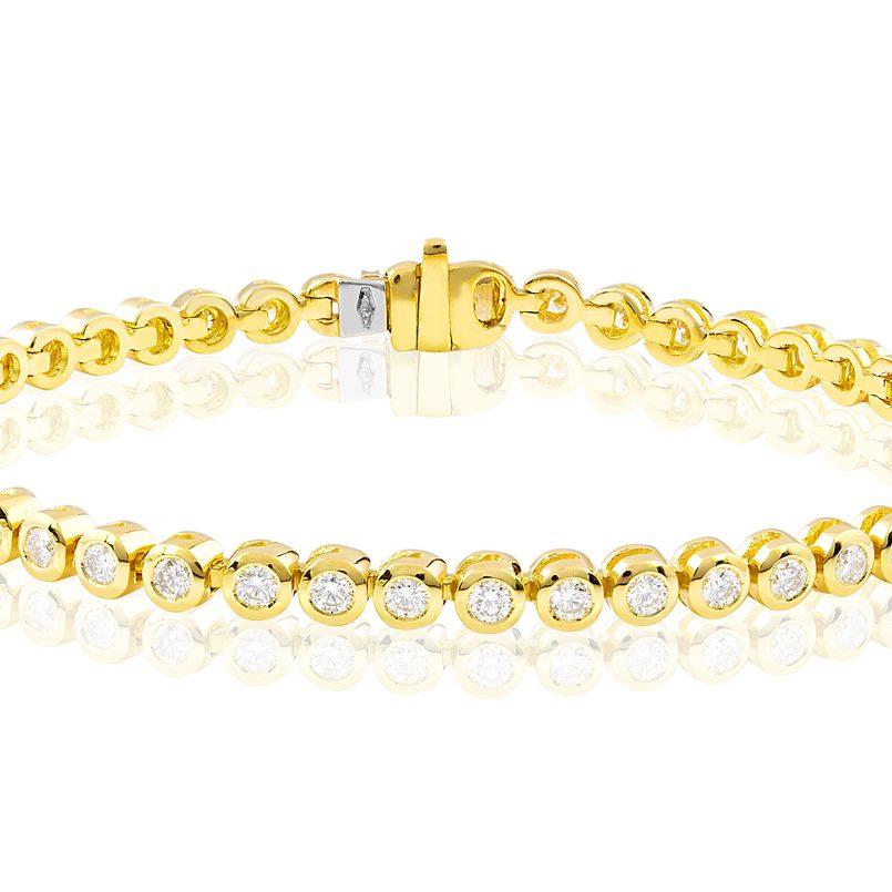 Armband in 750 Gelbgold mit Brillanten