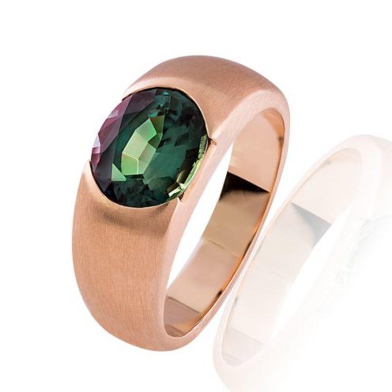 Ring in 750 Rósegold mit Alexandrite