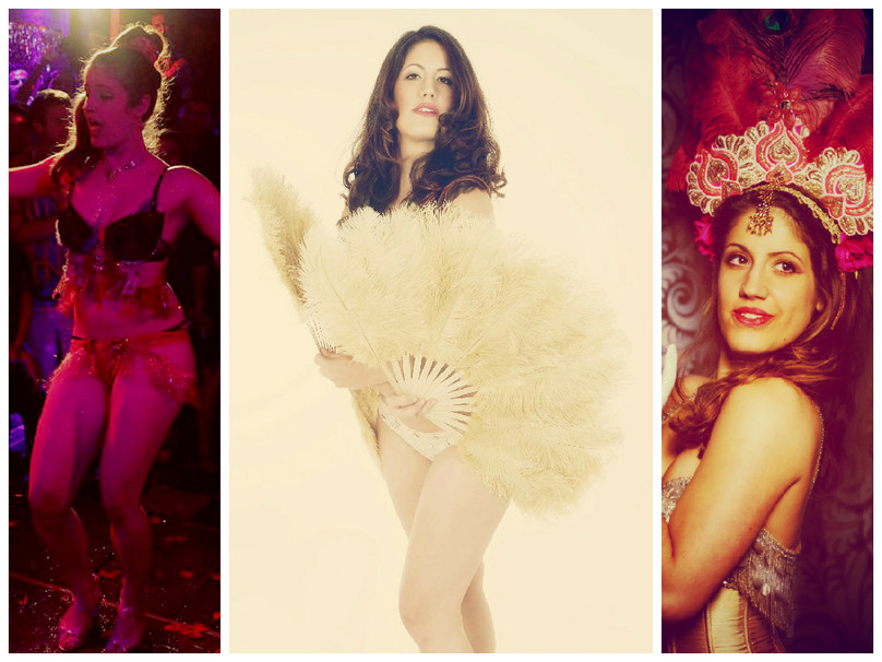 Anna Venture Burlesque Luxemburg Showgirls Feather fans