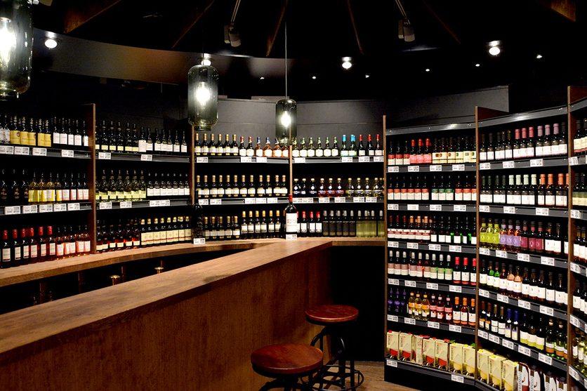 Weinabteilung in Bernhausen