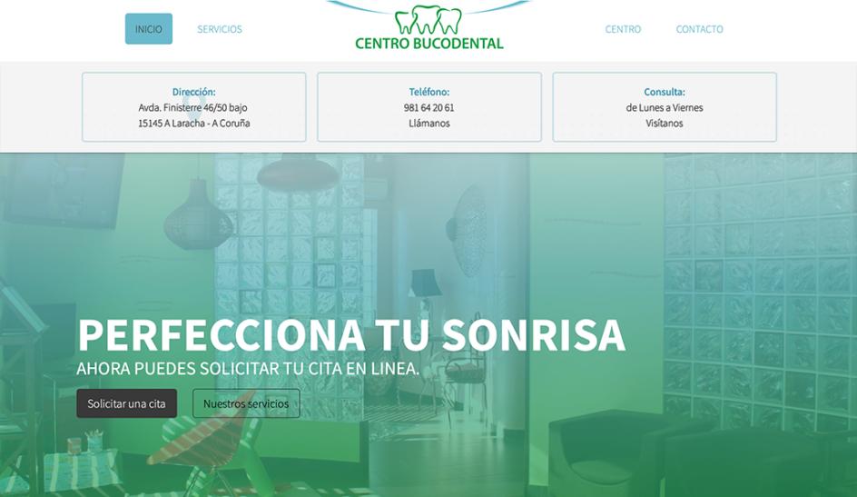 Imagen de pantalla www.centro-bucodental.com